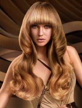 Эффект на светлых волосах