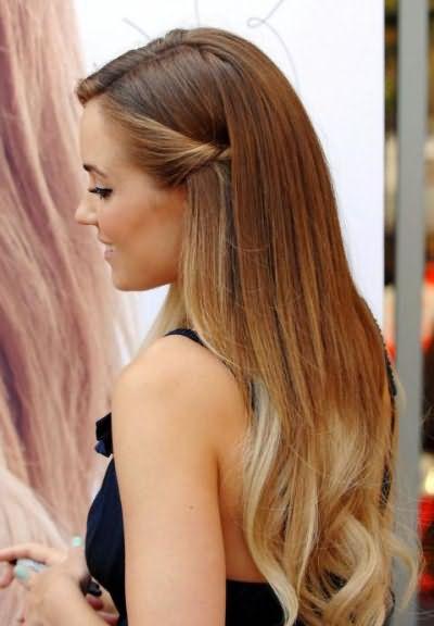 омбре окрашивание на русые волосы
