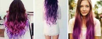 Фиолетовое омбре фото
