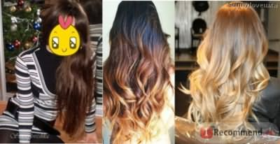 Мои волосы и примеры омбре