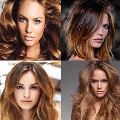 Варианты цветовых сочетаний для темно-русых волос