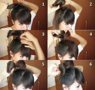 Как сделать бант из волос