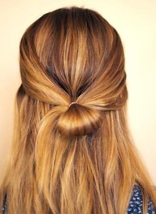 бант из волос схема