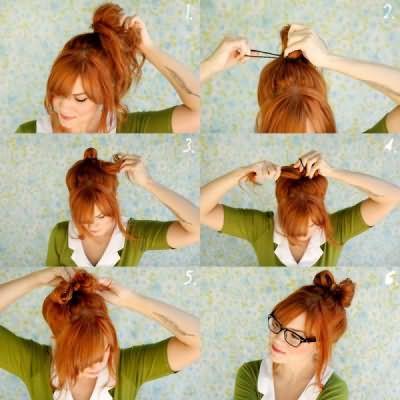 Как делается бант из волос