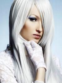 белые волосы 12