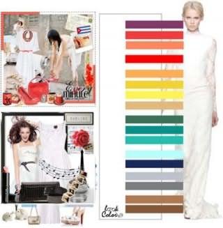 Платья белого цвета создадут стильные образы с дополнениями теплой и холодной цветовой гаммы.