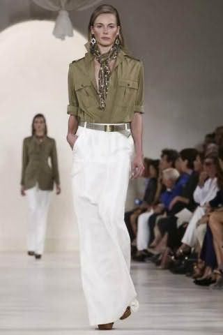 Юбка на каждый день белого цвета, прямого покроя, длиной в пол от Ralph Lauren.