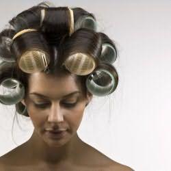 Фото бигуди на длинных волосах
