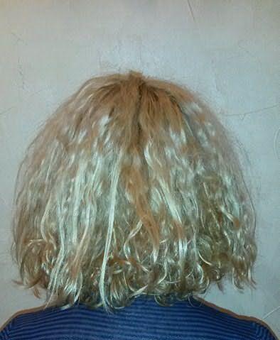 Результат завивки поврежденных волос