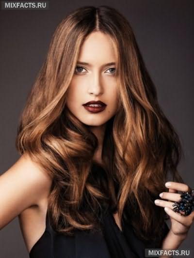 темное брондирование волос фото