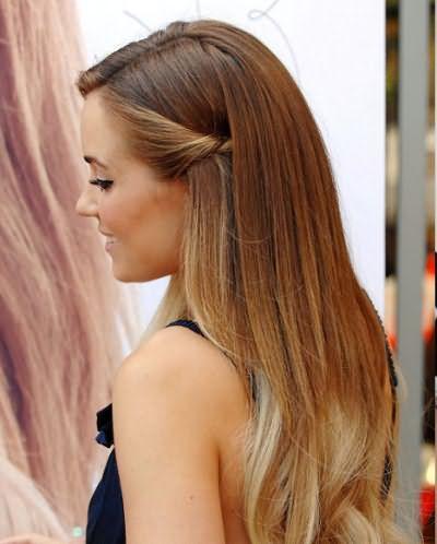 Яркий пример брондирования волос