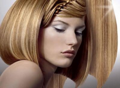 Солнечные блики - брондирование на средние волосы