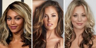 Женщины с зональным брондированием на русые волосы