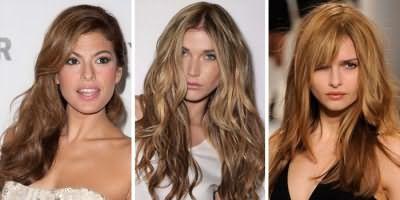Девушки с натуральным эффектом брондирования русых волос