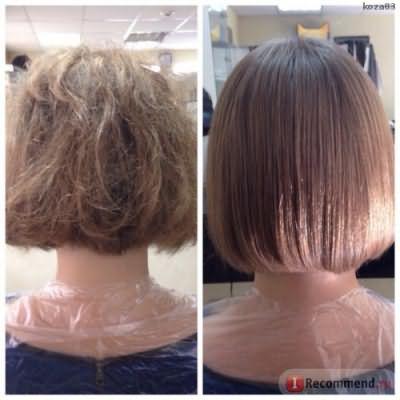 кератиновое выпрямление Cadiveu до и после