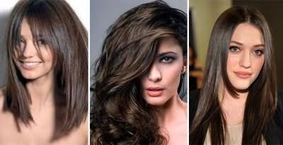 Холодно-коричневый цвет волос