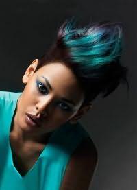 мелирование на черные крашеные волосы 1