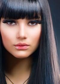 мелирование на черные крашеные волосы 3