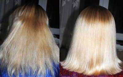 Разница очевидна: волосы выглядят здоровыми, объем увеличился на 10-15%