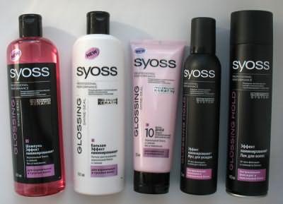 Серия продуктов Syoss с эффектом ламинирования волос
