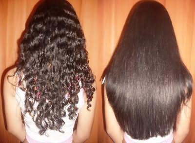 Кератиновое выпрямление волос - До и После