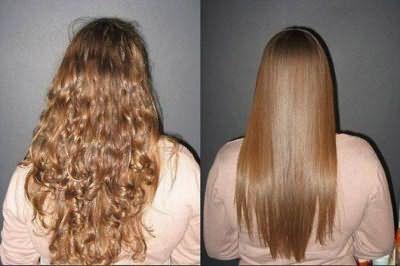 Бразильское кератиновое выпрямление волос - До и После