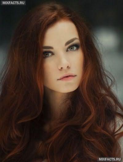 модные рыжие цвета волос 2017