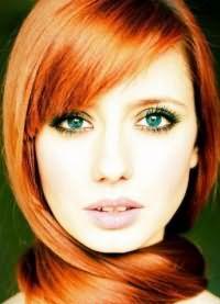 цвет волос под зеленые глаза 1