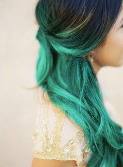 цветное омбре на темные волосы цена