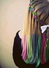 цветные пряди волос 4