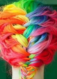 цветные пряди волос 5