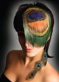 цветные пряди волос 6