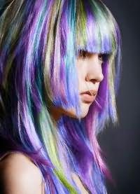 цветные пряди волос 7