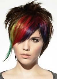 цветные пряди волос 8
