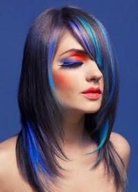цветные пряди волос 1
