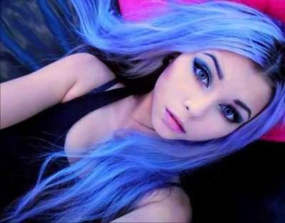 девушки с голубым цветом волос