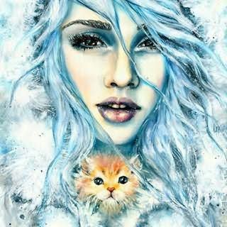 девушки с голубыми волосами арт