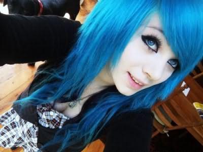 Как получить голубой цвет волос