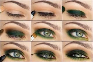 Мастер-класс по созданию дневного макияжа для серо-зеленых глаз рыжеволосых девушек: фото