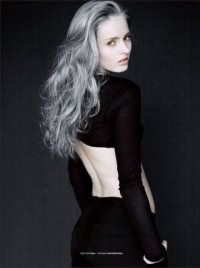 Идея укладки серых волос
