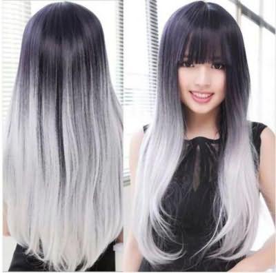 серый оттенок волос