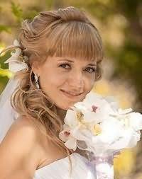 Свадебный макияж для русых.