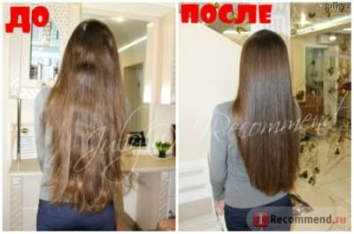 ДО и ПОСЛЕ подравнивания кончиков волос в салоне
