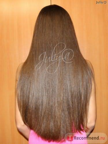 Мои волосы после подравнивания кончиков