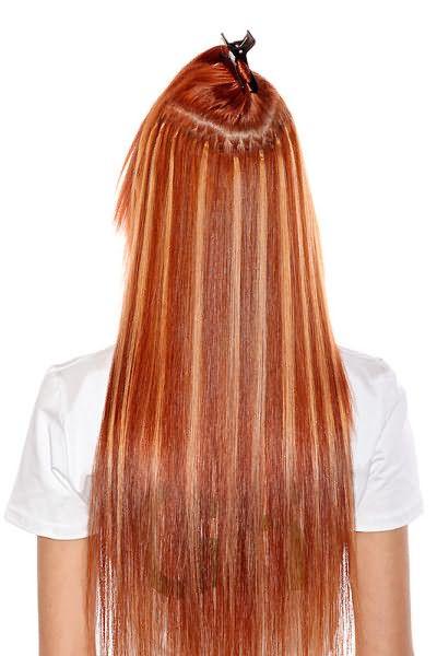 Микрокапсульное наращивание способно удлинить не только общий объем волос, но и челку