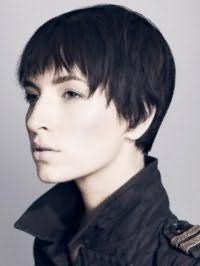 Ультрамодная креативная стрижка для коротких волос черного цвета