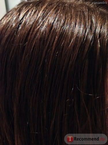 Влажные волосы после глазирования