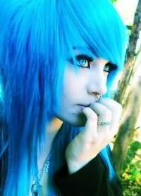 голубые волосы12