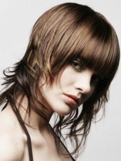 Стрижка углом на длинные волосы