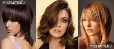 стрижки на средние волосы, стрижка каскад
